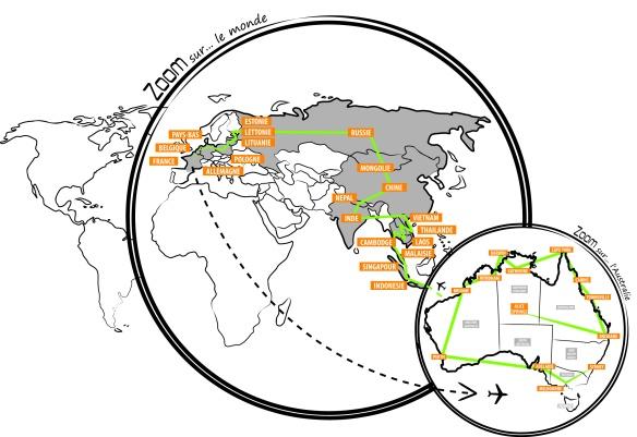 carte-monde et australie
